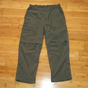 The North Face cargo hiking zip pants to shorts M